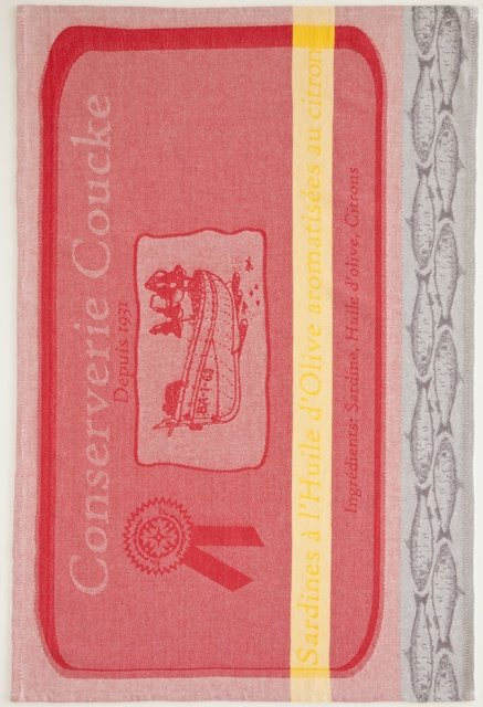 Coucke Red Sardine tea towel