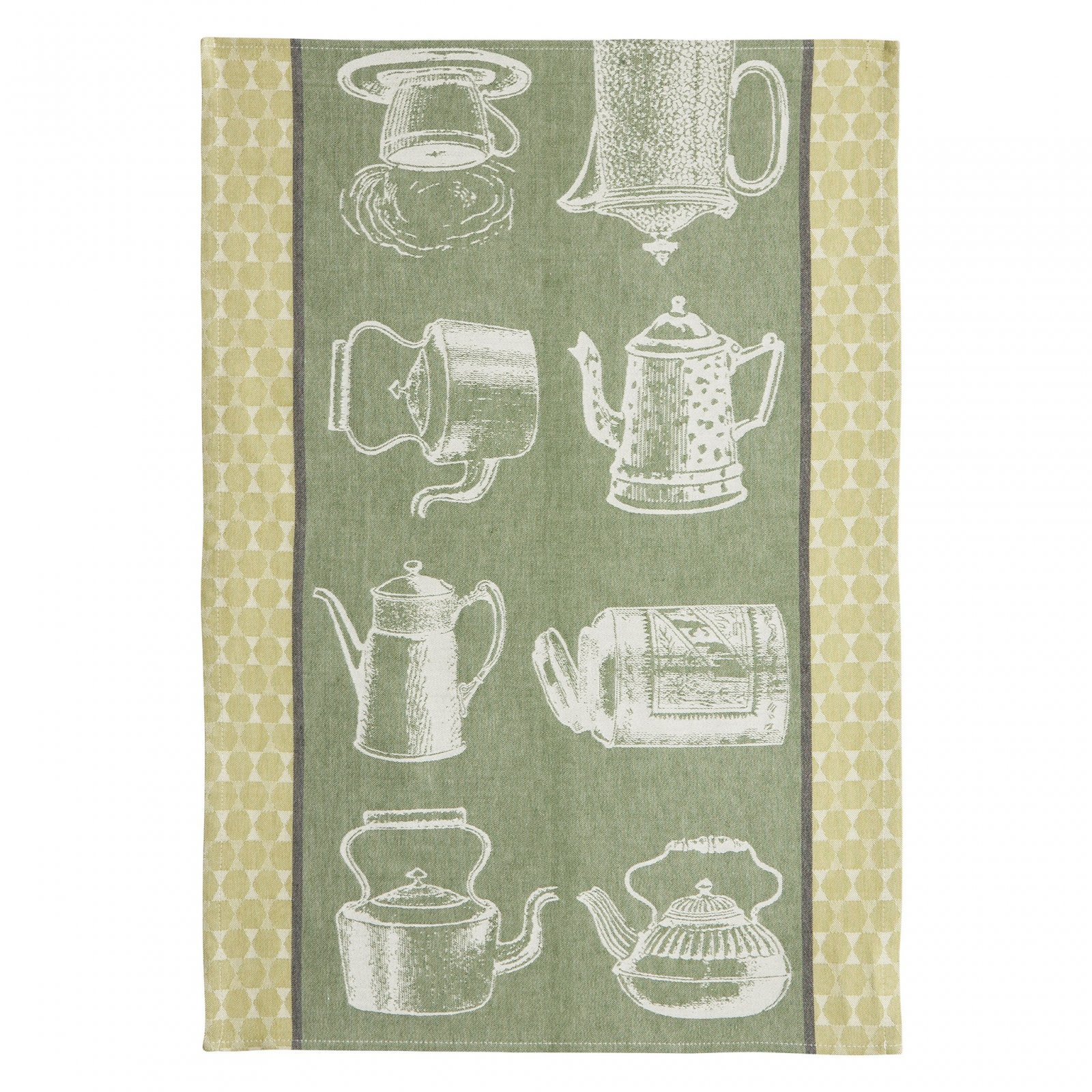 Coucke Tea Pots tea towel #1