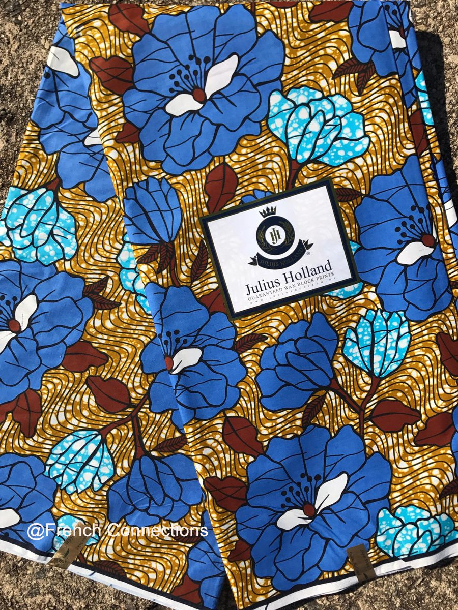 Blue Floral Ankara Fabric #1027