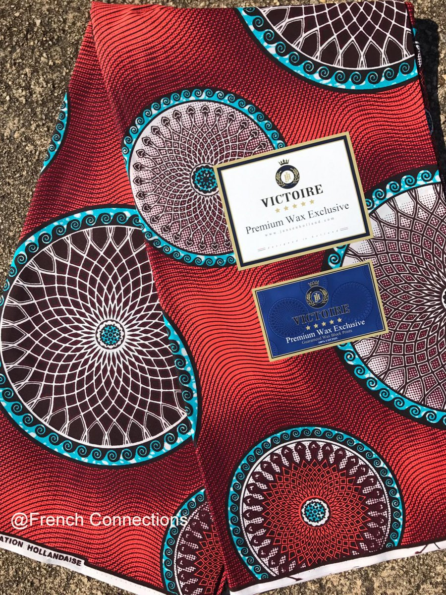Coral Medallion Ankara Fabric #1040