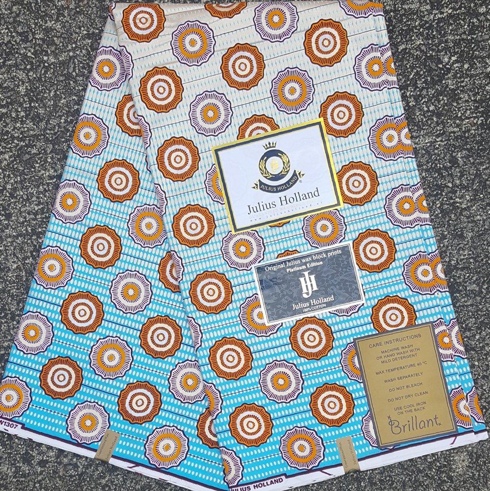 Metallic Wax Block Fabric #1123