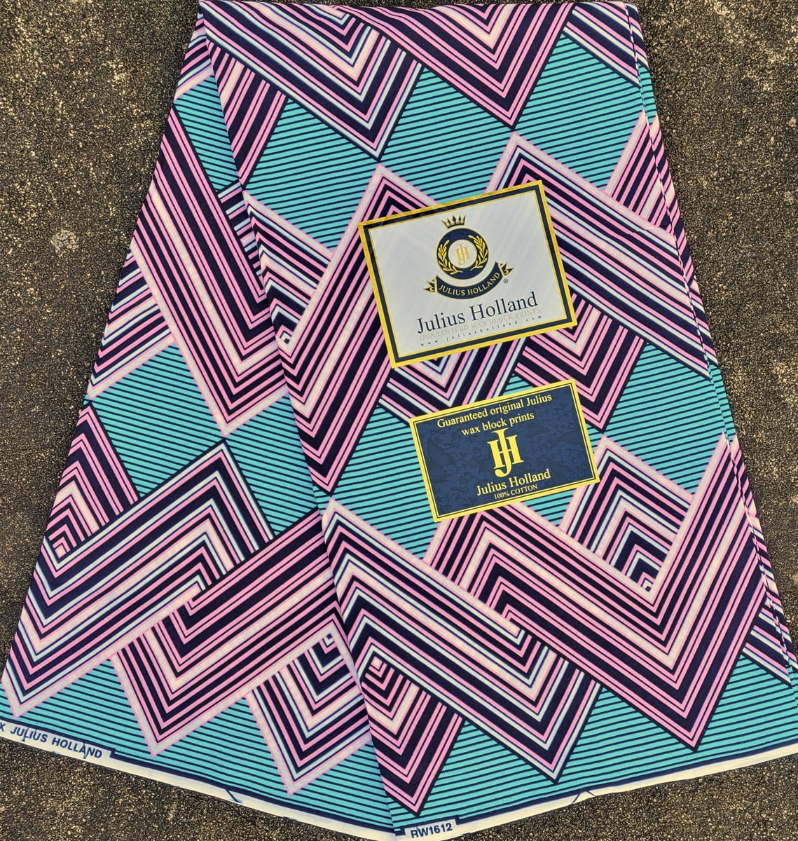 Pink and Blue Zigzag Fabric #1185