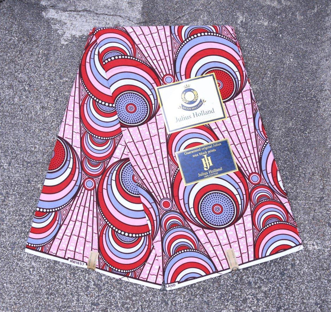Circle Pattern Dutch Wax Fabric #1234