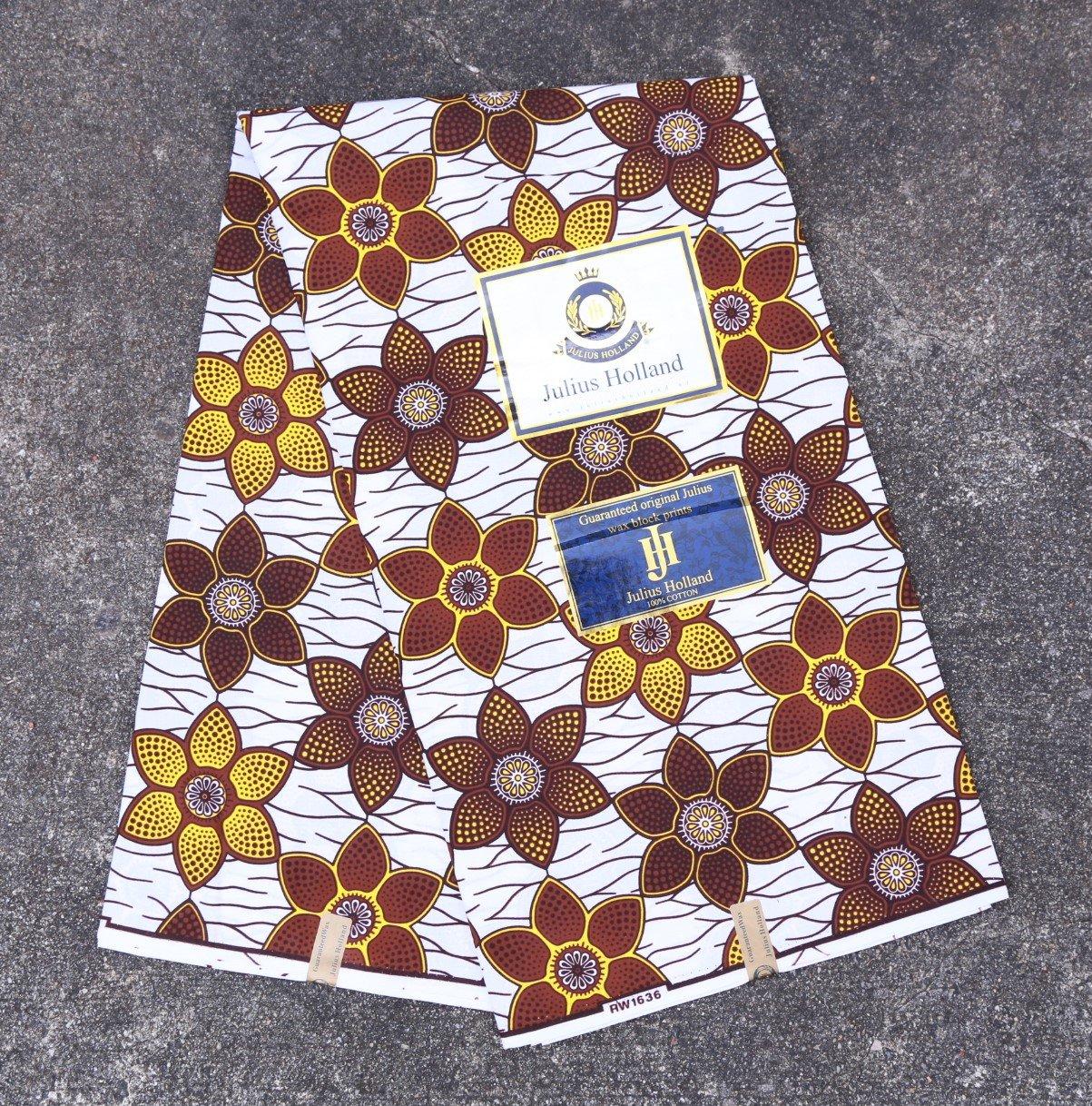 Flower Pattern Dutch Wax Fabric #1235