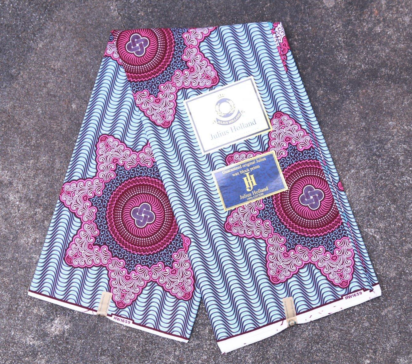 Star Pattern Dutch Wax Fabric #1238