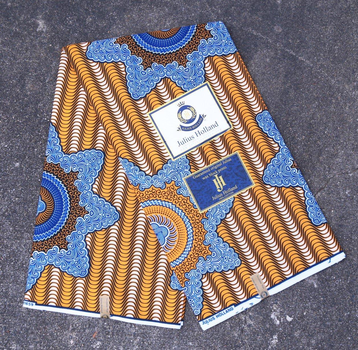 Star Pattern Dutch Wax Fabric #1239