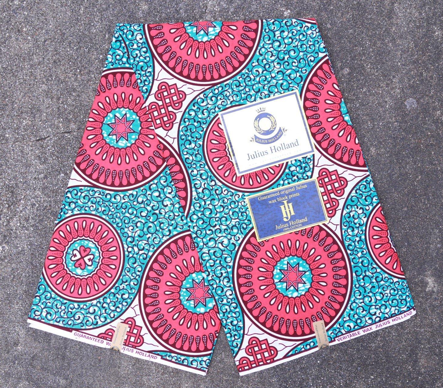 Circle Pattern Dutch Wax Fabric #1240