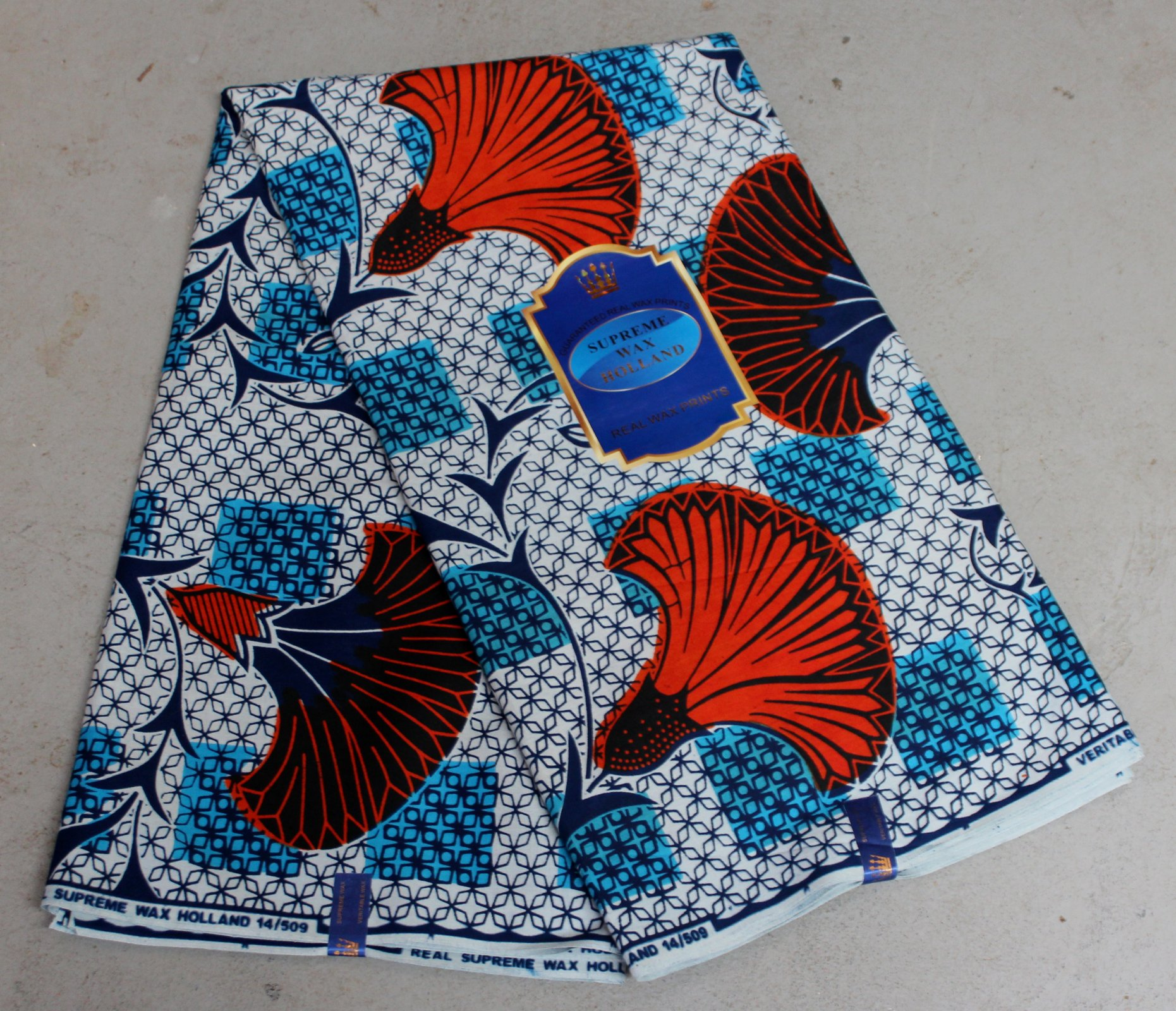 Dutch Supreme Wax printed fabric (blue) #625