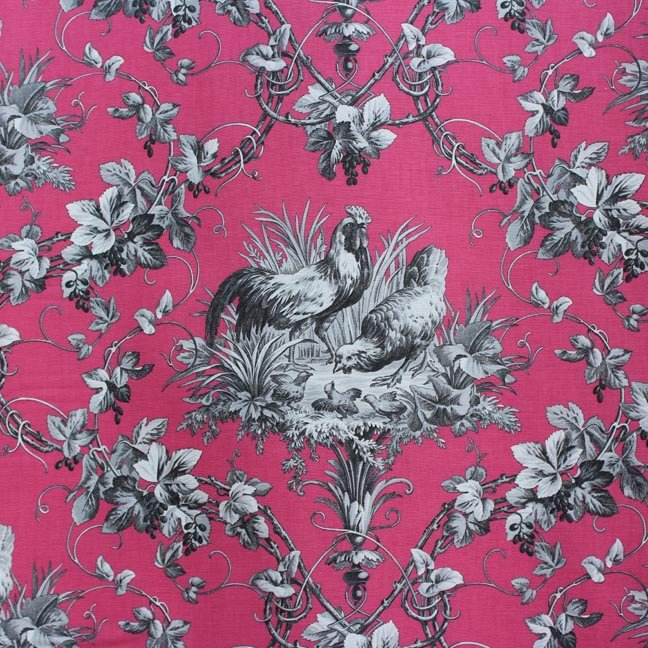 Pink French Rooster Toile #37