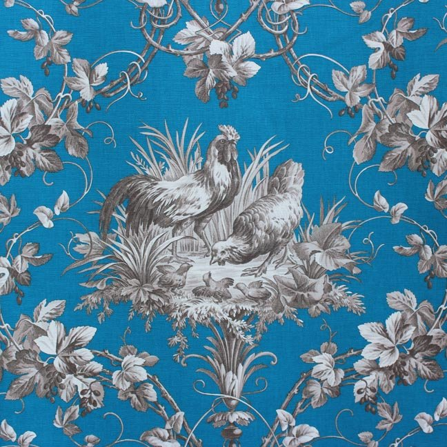 Blue French Rooster Toile #38