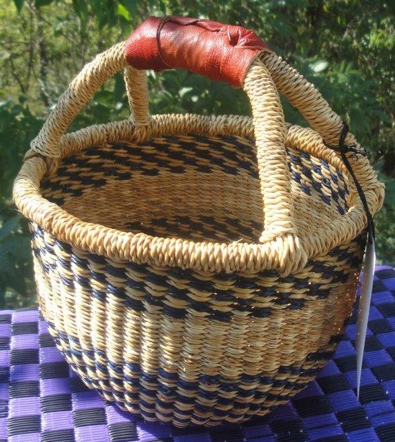 Ghana Round Market Basket Small #004