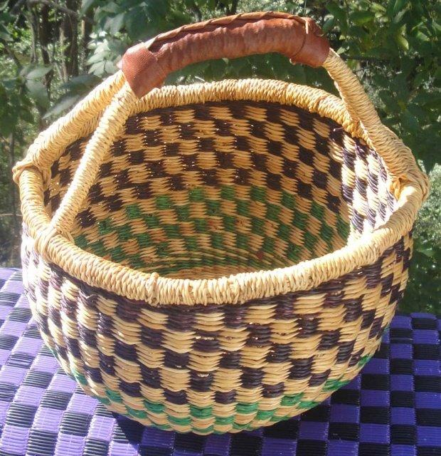 Ghana Round Market Basket Small #016
