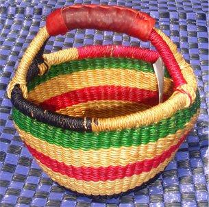 Ghana Round Market Basket Small #027