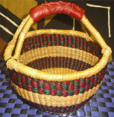 Ghana Round Market Basket Small #033