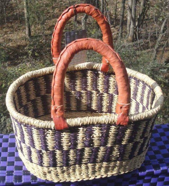 Ghana Oval Basket Small #005