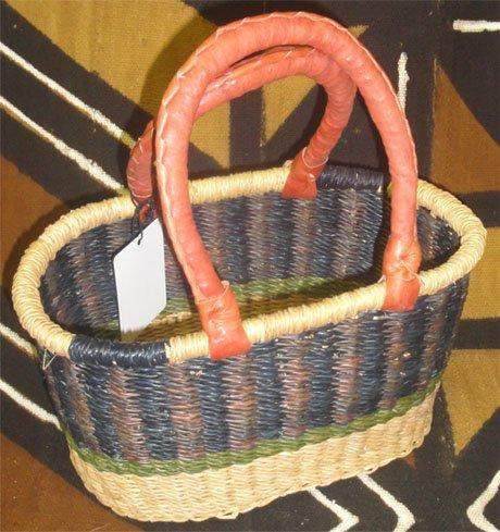 Ghana Oval Basket Small #012
