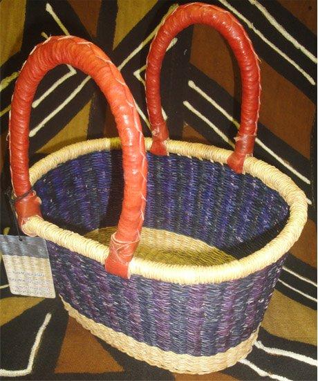 Ghana Oval Basket Small #019