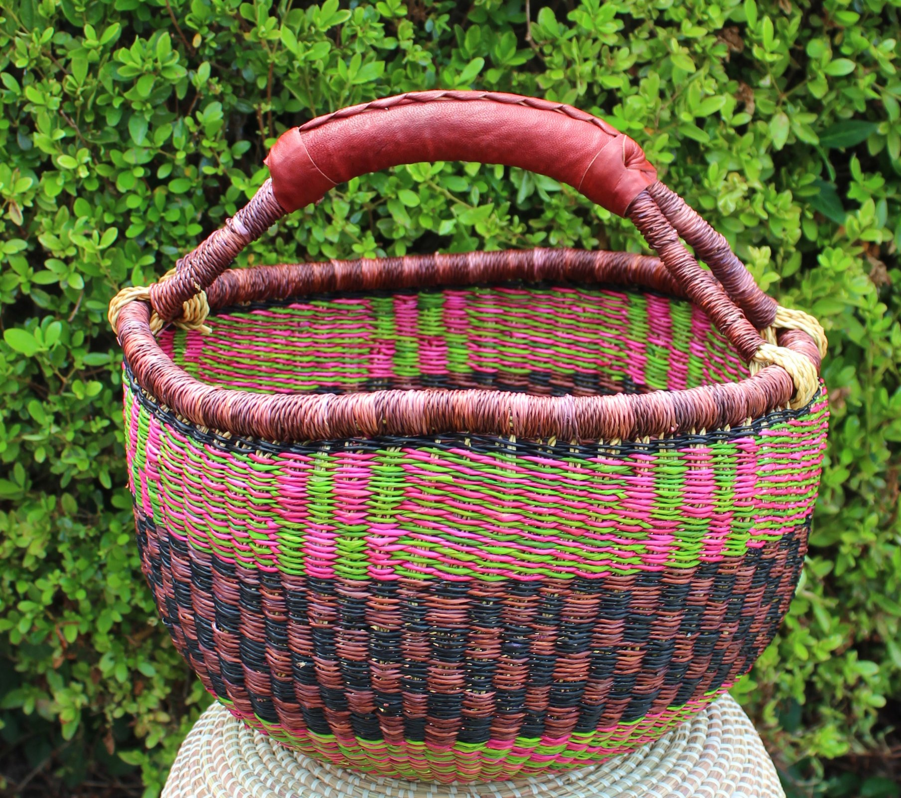 Ghana Round Market Basket Medium #024