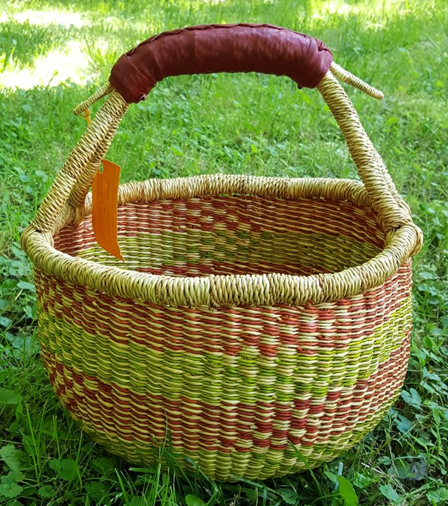 Ghana Round Market Basket Medium #028