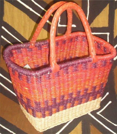 Ghana Rectangular Basket Small #003