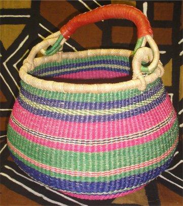 Ghana Gambibgo Pot Basket #012