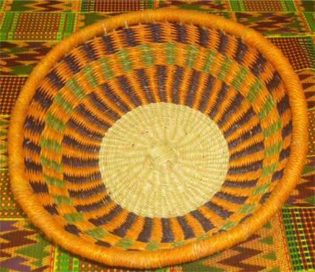 Ghana Shallow Round Tray Large #008