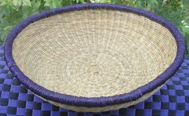 Ghana Shallow Round Tray Large #001