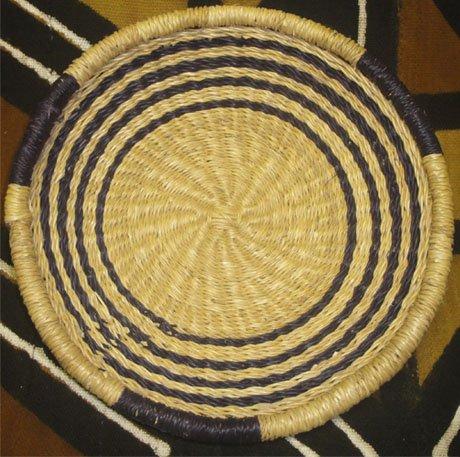 Ghana Shallow Round Tray Small #006