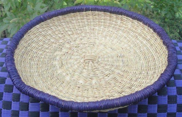Ghana Shallow Round Tray Small #001