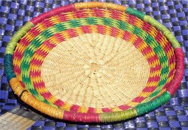 Ghana Shallow Round Tray Medium #004