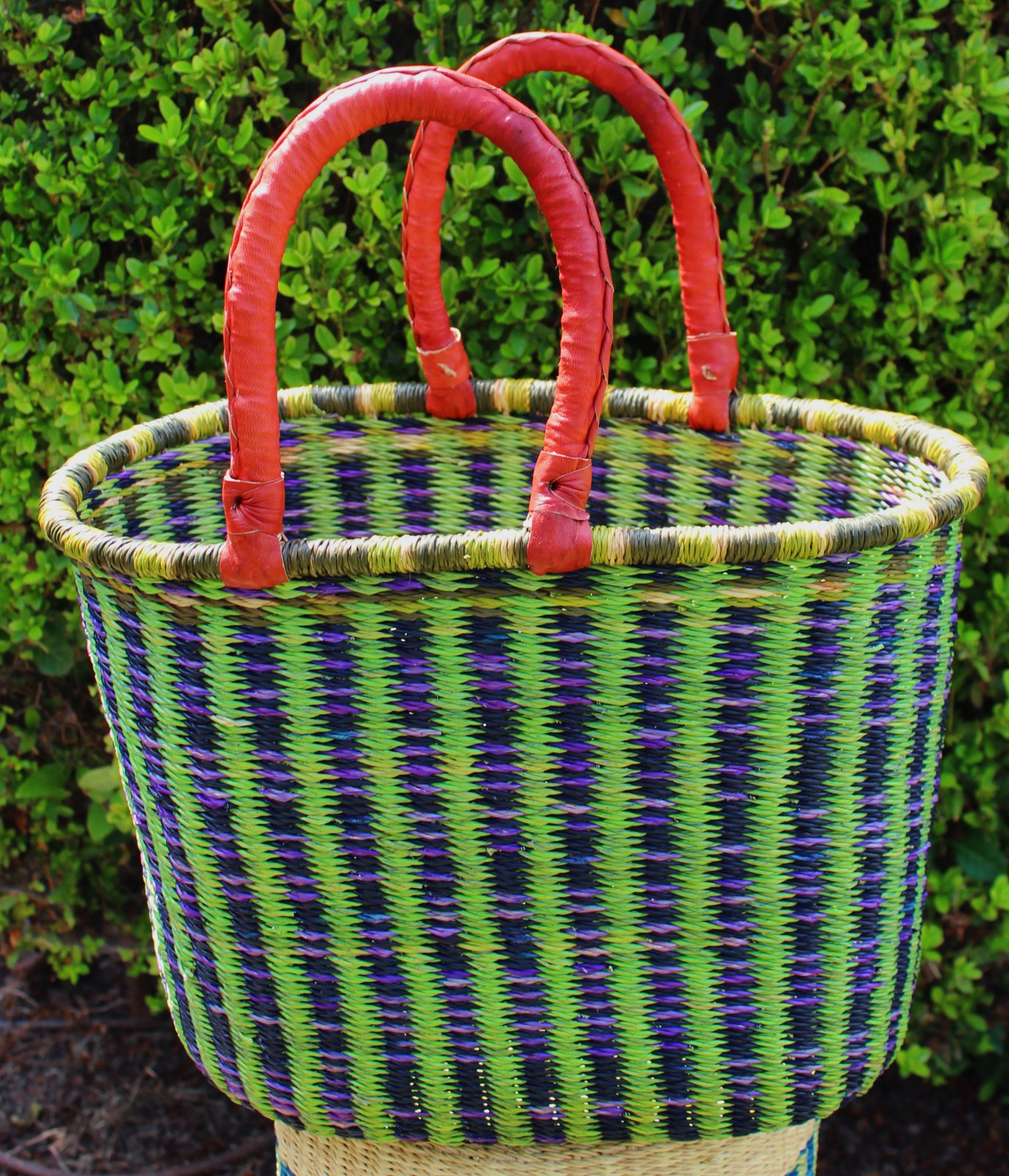 Ghana Double Weave Oval Tote #014