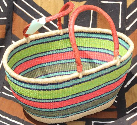 Ghana Double Weave Oval Tote #007