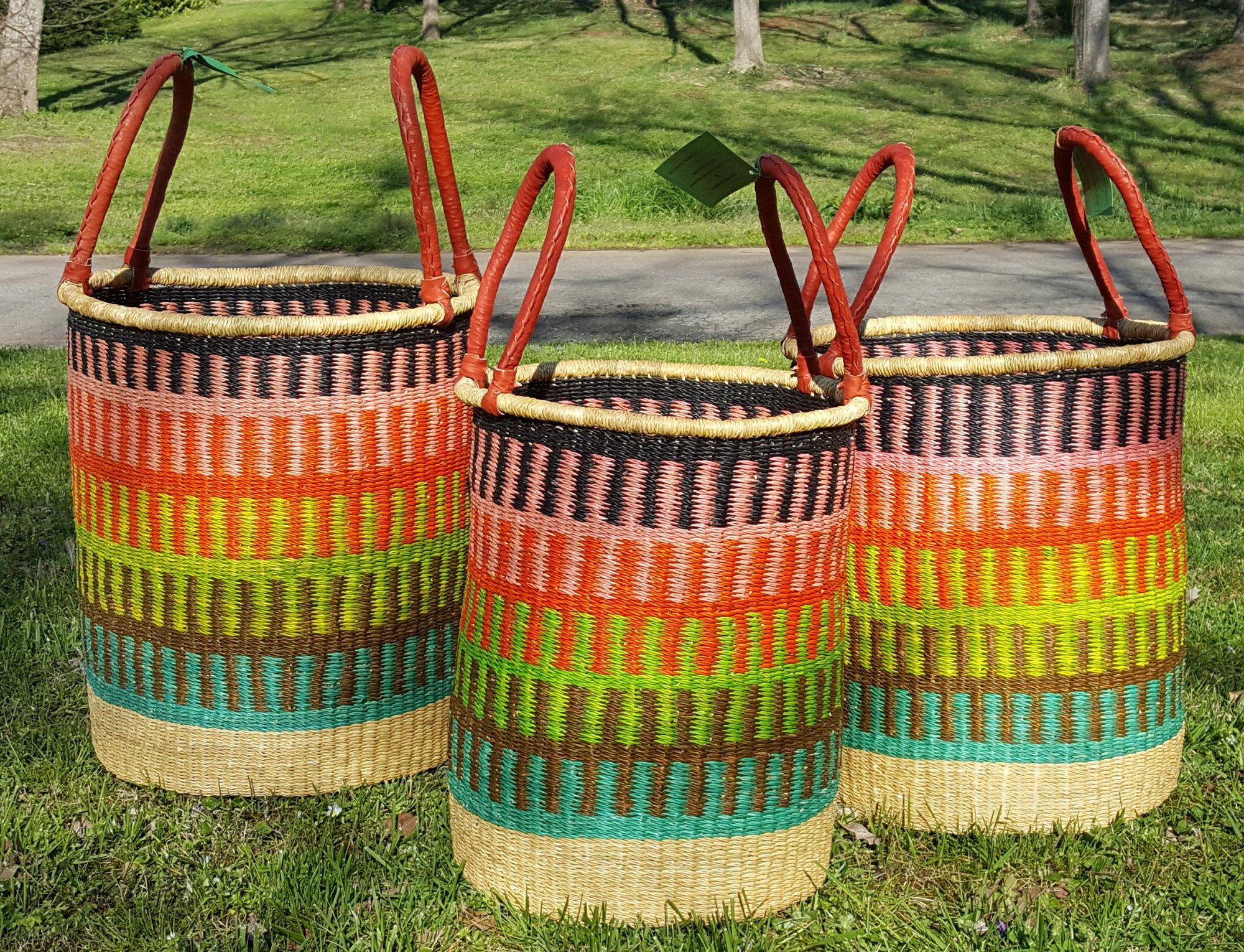 Ghana 2-Handled Multicolor Hampers (sold separately)