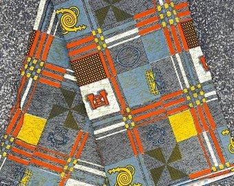 Gold black and orange African print  #642