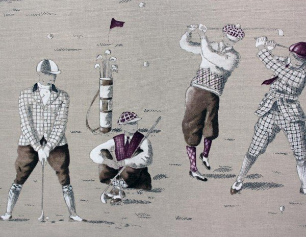 French Golf Lovers Fabric #036