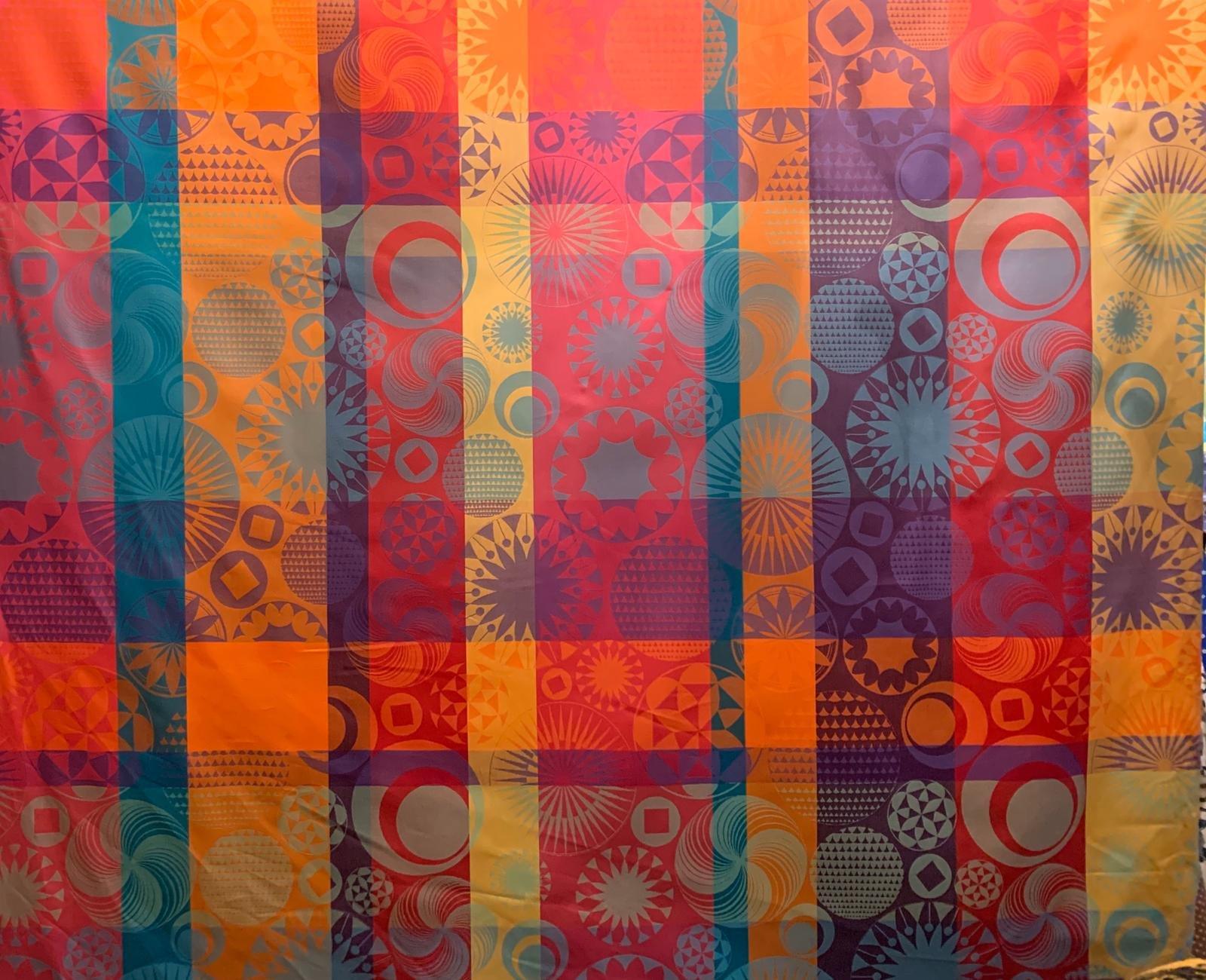 Garnier-Thiebaut Multicolored Festival Treated Fabric