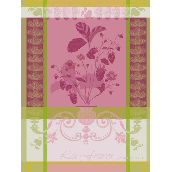 Garnier-Thiebaut Tea Towel Strawberry Plant