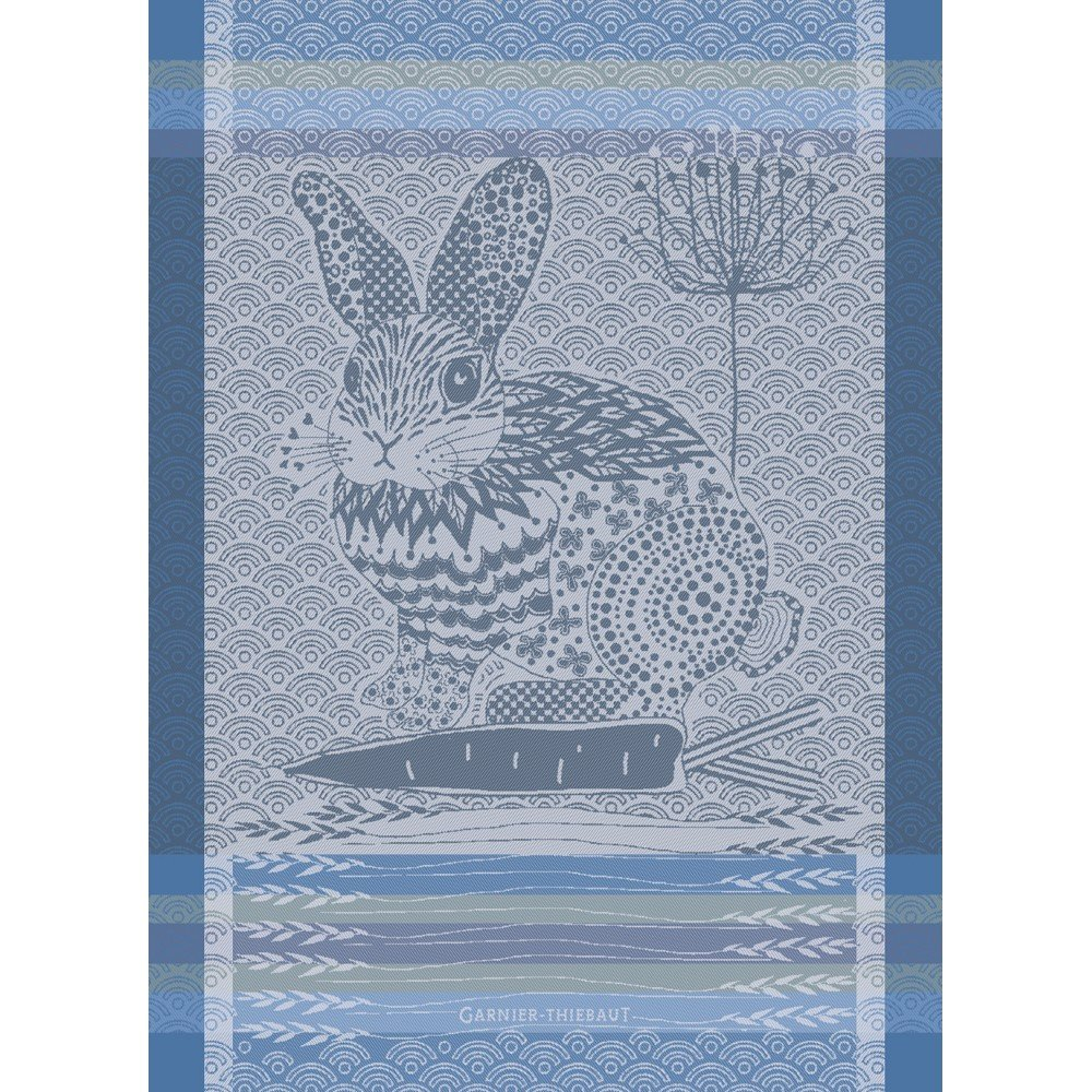 Garnier-Thiebaut French Rabbit tea towel