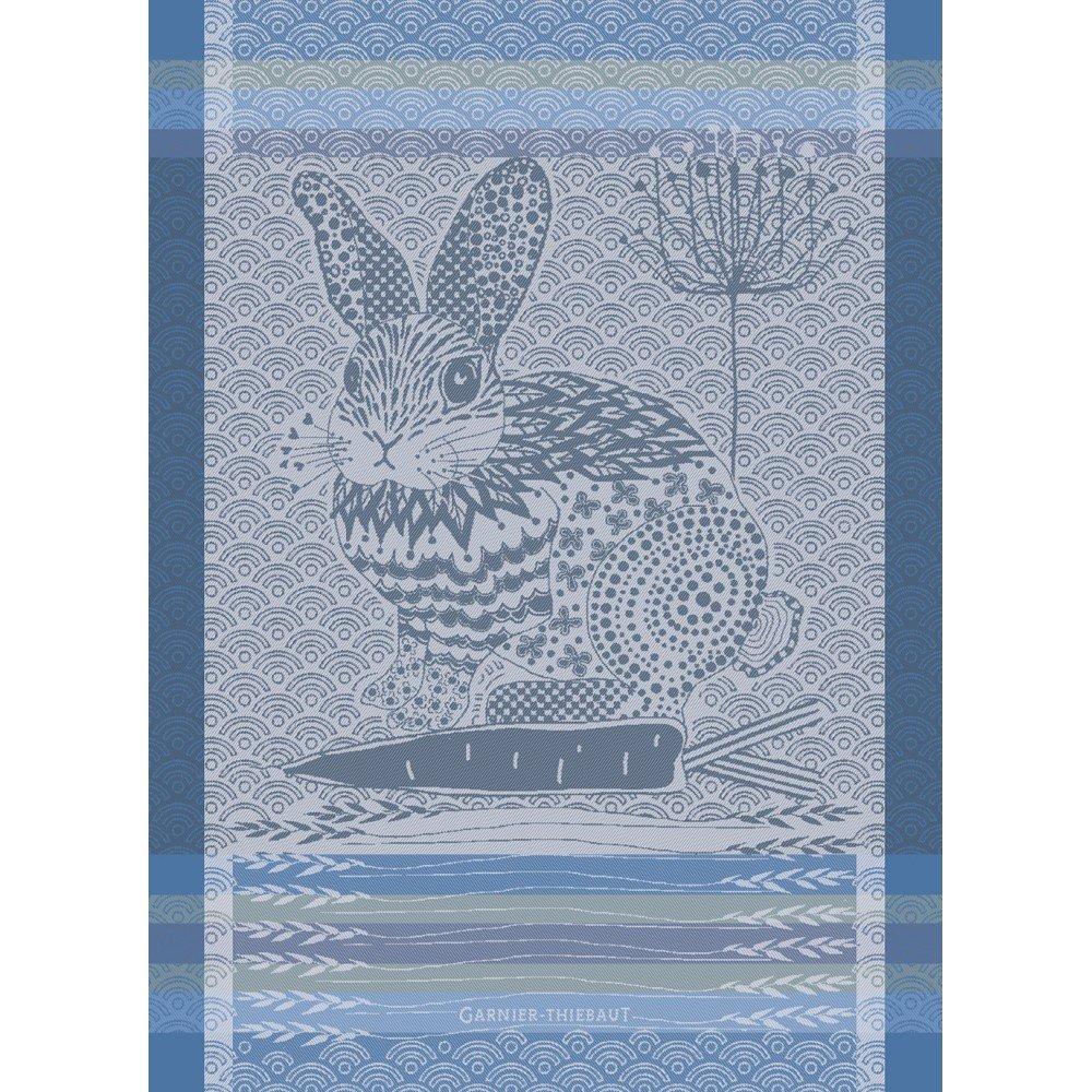 Garnier-Thiebaut French Rabbit tea towel