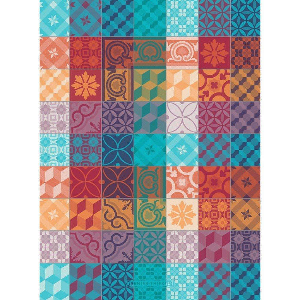 Garnier-Thiebaut Multicolored Tiles towel