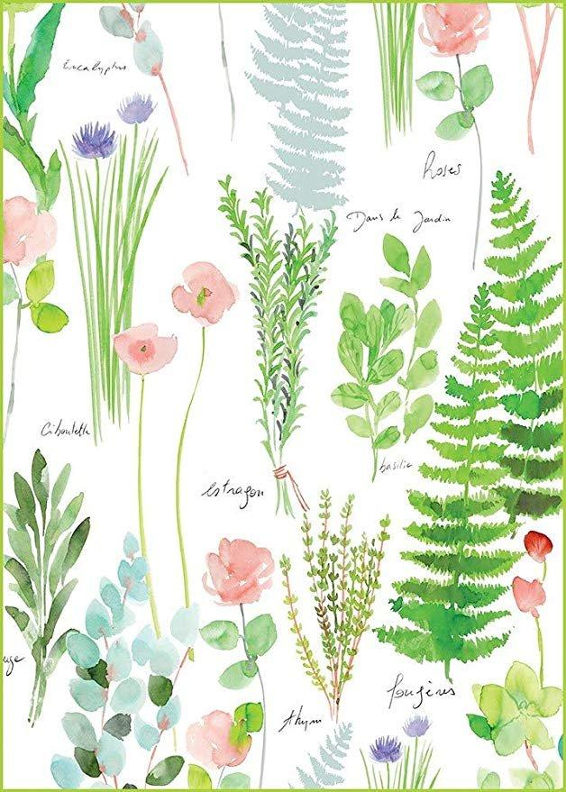 Garnier-Thiebaut Printed Herb Towel