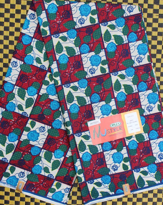 GTP Nustyle African Floral Fabric from Ghana #717