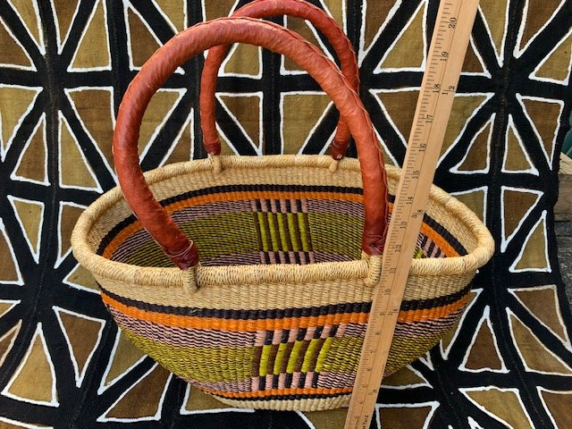 Ghana Double Weave Oval Tote #033