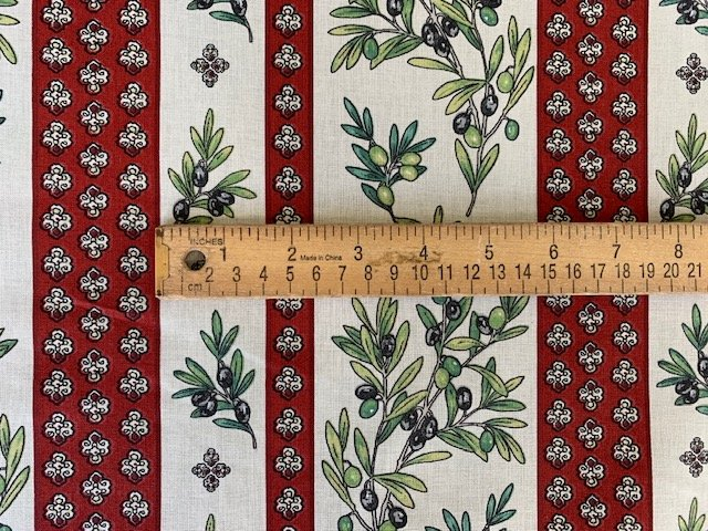 French Olive fabric (border) #711