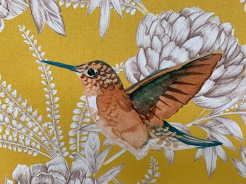 French Hummingbird  Drapery Fabric by Thevenon