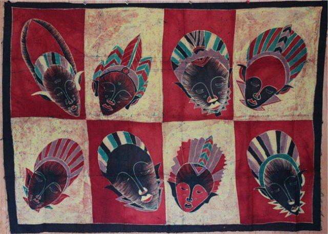 Ivory Coast Batik Masks panel #032