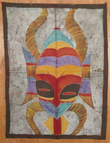 Ivory Coast Batik Mask panel #037