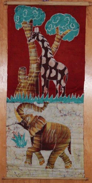 Ivory Coast Batik Animal wall hanging #008