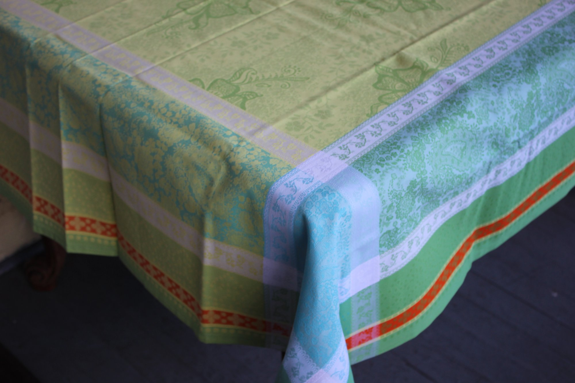 3 Sizes French Jacquard Tablecloths Anna (Yellow)
