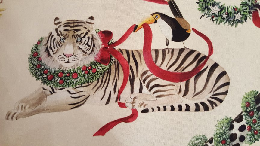 Wild Animal Christmas fabric